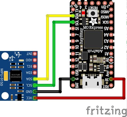 モーションセンサ MPU9250 の DMP 動作確認 - 電子工作